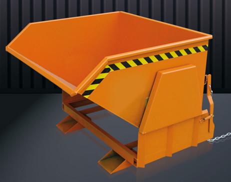 Eichinger Kippbehälter Kippmulde Kippcontainer mit Abrollautomatik und geschützten Abrollkufen – Bild 3