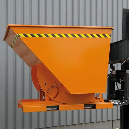 Eichinger Kippbehälter 750L in hoher Bauhöhe mit und quer zur Fahrtrichtung kippbar
