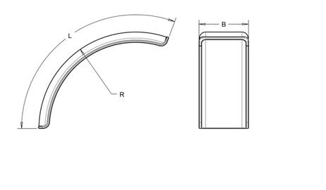 Kotflügel aus Kunststoff für Schlepper Vorderrad 620 x 1560 mm Radius 810mm – Bild 2