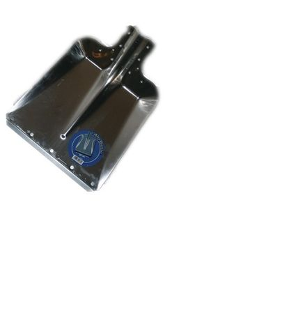 Aluschaufel mit Stahlkante Größe 9 - Breite 37 cm ohne Stiel