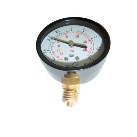 """Vakuum-Manometer Außengewinde1/4"""" für GüllefässerAußendurchmesser 63 mm  – Bild 1"""
