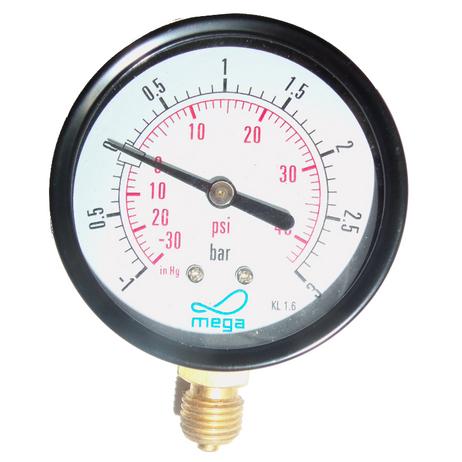 """Vakuum-Manometer Außengewinde1/4"""" für GüllefässerAußendurchmesser 63 mm  – Bild 2"""