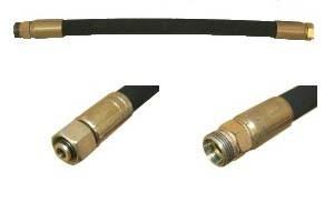 Hydraulikschlauch NW10-12L, 1000 mm lang mit Überwurfmutter und Außengewinde