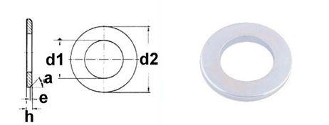 Beilagscheiben DIN 125 M28,0 VZ/L
