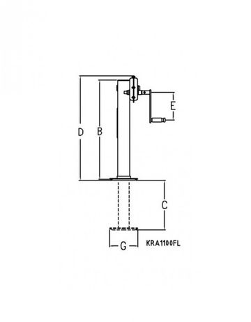 Simol Stützwinde vierkant Stützvorrichtung Stützfuß 10000kg  10to Tragkraft 450mm Hub – Bild 2