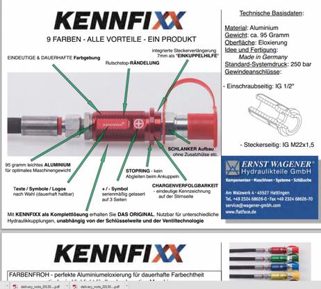 KENNFIXX Griffstück Hydraulik Schlauchkennzeichnung einfache Montage – Bild 15