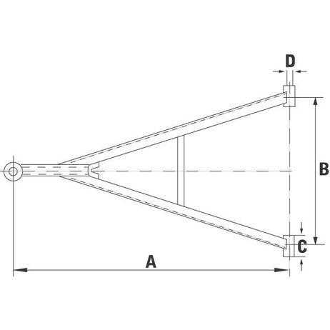 Deichsel Zuggabel Zugdeichsel TBZ 27 1100/100/30/19 Frabe schwarz – Bild 2