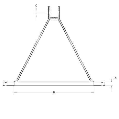 Ackerschienendreieck Anhängekupplung für Dreipunkt Dreipunktaufhängung Kugelkopfbolzen Zugmaul  – Bild 3