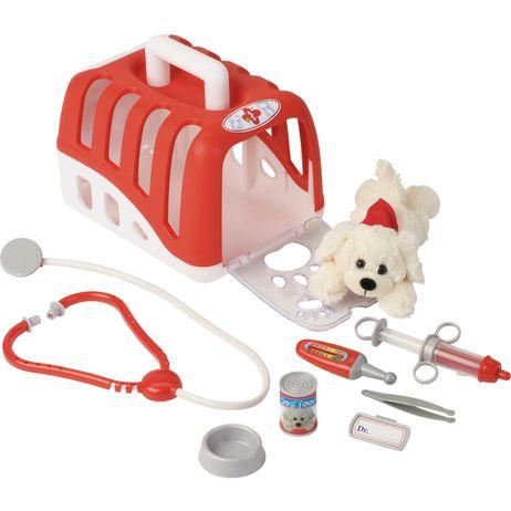 K4821 Klein Tierarztkoffer-Set mit Transportbox und Plüschkatze