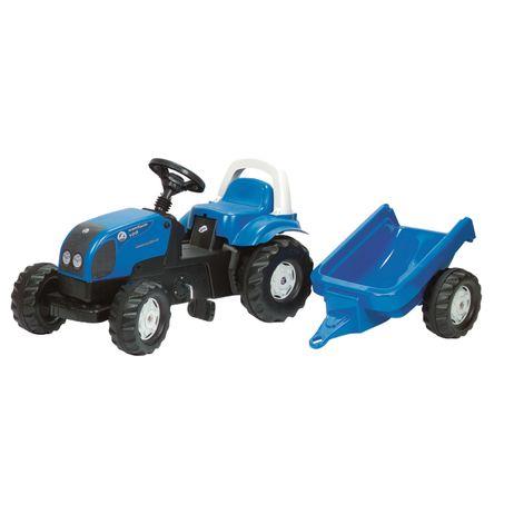 011841 Rolly Toys Landini Powerfarm 100  mit Kid Trailer aufklappbare Motorhaube