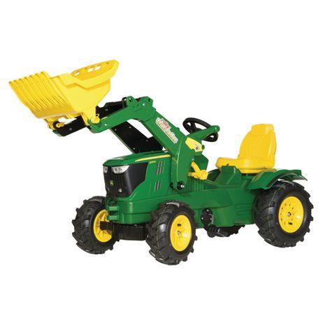 611102 Rolly Toys John Deere 6210 R  mit Trac Lader und Luftbereifung