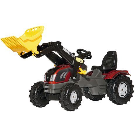 611157 Rolly Toys Valtra T 213  mit Trac Lader Motorhaube zum Öffnen