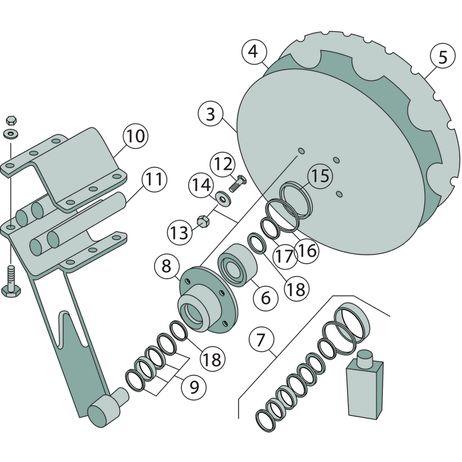 Tellerscheibe gezahnt    510 x 5 mm, Lochkreis-Ø 120 mm 78201966 passend für Amazone Catros, Catros+ Scheiben-Version 2/3 – Bild 2