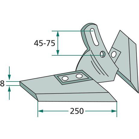 Flügelschar kpl. Schare für diverse Hersteller Arbeitsbreite = 430 – Bild 2