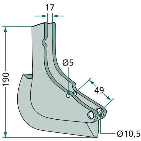 Drillschar Unicorn 3 810210, KL810210 , 15-450-25 passend für Kleine Einzelkorn Sätechnik  – Bild 2