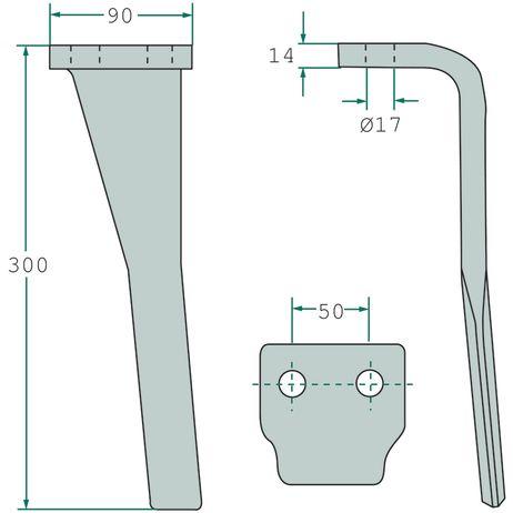 Kreiseleggenzinken  rechts  passend für Pöttinger / Landsberg   – Bild 2