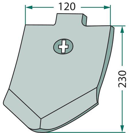 Scharspitze Vergleichsnummer: 3374388 passend für Lemken Smaragd   – Bild 2
