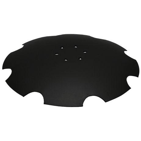 Scheibe gezahnt, mit flachem Ansatz    6-Loch, 620 x 6 mm 3490466 passend für Lemken Rubin 9 Gezahnte Scheibe mit flachem Ansatz  – Bild 1