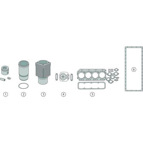 Motorreparatursatz Satz bestehend aus 1, 2, 5, 6 Abmessung Kolbensatz siehe Seite 869 3179D