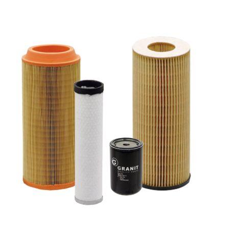 Filtersatz Satz bestehend aus Motorölfilter Kraftstoff-Hauptfilter Haupt-Luftfilter Sicherheits-Element Case 554, 644, 654, 744, 824, 844, 844S